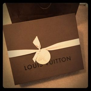 Large Louis Vuitton Gift Box And Ribbon.